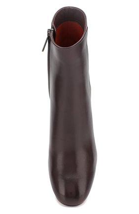 Женские кожаные ботильоны SANTONI бордового цвета, арт. WTT058158HI2CBGNB56   Фото 5