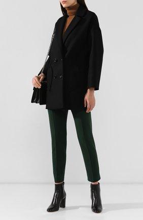 Женские кожаные ботильоны SANTONI черного цвета, арт. WTT058158HI2CLGAN01 | Фото 2