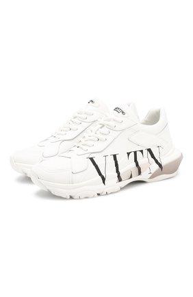 Женские кожаные кроссовки valentino garavani bounce VALENTINO белого цвета, арт. SW2S0M53/RKW | Фото 1