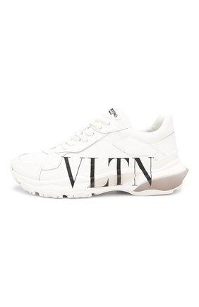 Кожаные кроссовки Valentino Garavani Bounce | Фото №3