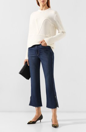 Женская кожаные туфли valentino garavani go logo VALENTINO черного цвета, арт. SW2S0Q63/DSH   Фото 2