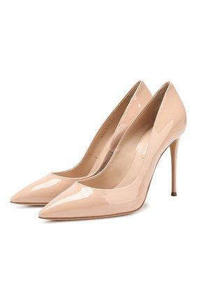 Женская кожаные туфли julia CASADEI бежевого цвета, арт. 1F121D1001TIFFA3310 | Фото 1