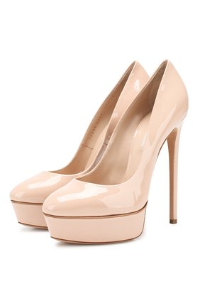 Женская кожаные туфли flora CASADEI бежевого цвета, арт. 1F324K1401TIFFA3310 | Фото 1