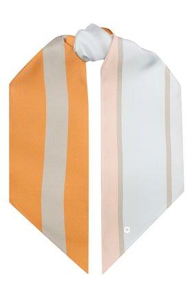 Шелковый шарф-бандо La Vallie're | Фото №1