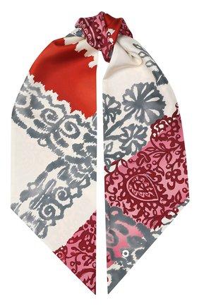Шелковый шарф-бандо Azulejos Loro Piana красный | Фото №1