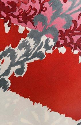 Шелковый шарф-бандо Azulejos Loro Piana красный | Фото №2