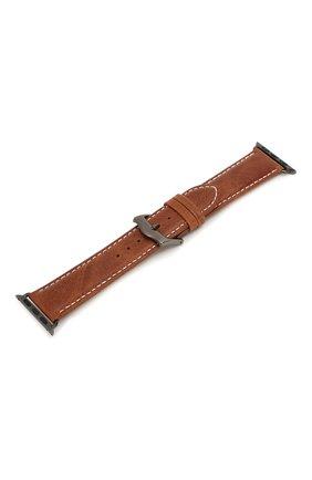 Мужской ремешок для apple watch 38mm DBRAMANTE1928 коричневого цвета, арт. AW38GTSG0880 | Фото 2