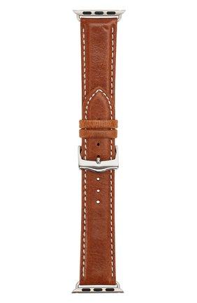Мужской ремешок для apple watch 42mm DBRAMANTE1928 коричневого цвета, арт. AW38GTSI0881 | Фото 1