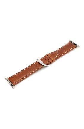 Мужской ремешок для apple watch 42mm DBRAMANTE1928 коричневого цвета, арт. AW38GTSI0881 | Фото 2