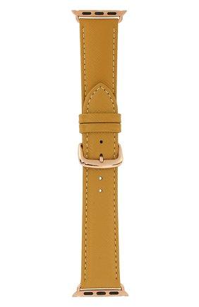 Мужской ремешок для apple watch 38/40mm DBRAMANTE1928 желтого цвета, арт. AW38DEAM5198 | Фото 1