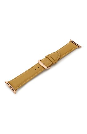 Мужской ремешок для apple watch 38/40mm DBRAMANTE1928 желтого цвета, арт. AW38DEAM5198 | Фото 2
