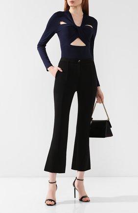 Расклешенные брюки Givenchy черные   Фото №2