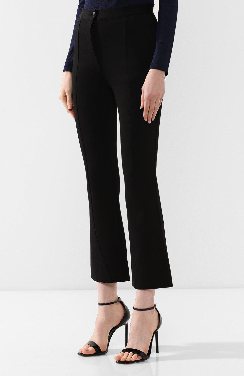 Расклешенные брюки Givenchy черные   Фото №3