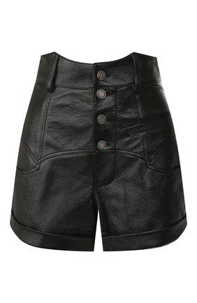 Женские кожаные шорты SAINT LAURENT черного цвета, арт. 560672/YC2UE | Фото 1