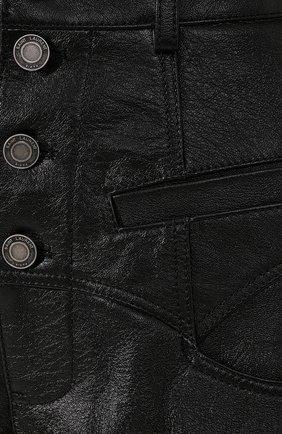 Женские кожаные шорты SAINT LAURENT черного цвета, арт. 560672/YC2UE | Фото 5