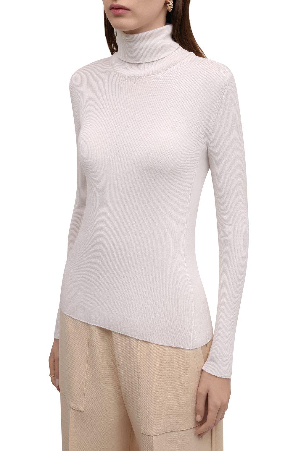 Женская водолазка из кашемира и шелка TOM FORD белого цвета, арт. MAK840-YAX176 | Фото 3