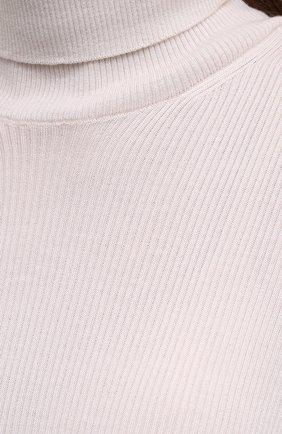 Женская водолазка из кашемира и шелка TOM FORD белого цвета, арт. MAK840-YAX176 | Фото 5