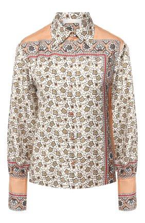 Женская шелковая рубашка CHLOÉ розового цвета, арт. CHC19AHT49327 | Фото 1