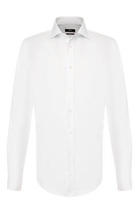 Мужская хлопковая сорочка BOSS белого цвета, арт. 50410447 | Фото 1
