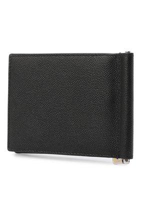 Мужской кожаный зажим для денег SAINT LAURENT черного цвета, арт. 378005/BTY0N | Фото 2