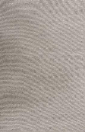 Мужской кашемировый шарф LORO PIANA светло-серого цвета, арт. FAF3540 | Фото 2