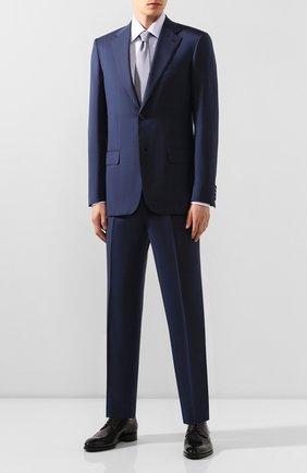 Мужской шерстяной костюм BRIONI синего цвета, арт. RAH00M/08A07/PARLAMENT0 | Фото 1