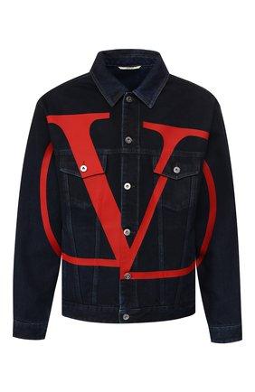 Мужская джинсовая куртка VALENTINO темно-синего цвета, арт. SV3DC00K5DS | Фото 1