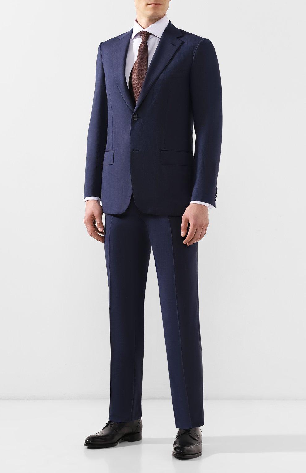 Мужские кожаные дерби BRIONI черного цвета, арт. QEEZ0L/P6757 | Фото 2