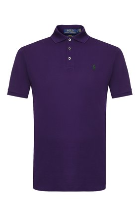 Мужское хлопковое поло POLO RALPH LAUREN фиолетового цвета, арт. 710541705 | Фото 1