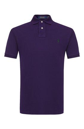 Мужское хлопковое поло POLO RALPH LAUREN фиолетового цвета, арт. 710680784 | Фото 1