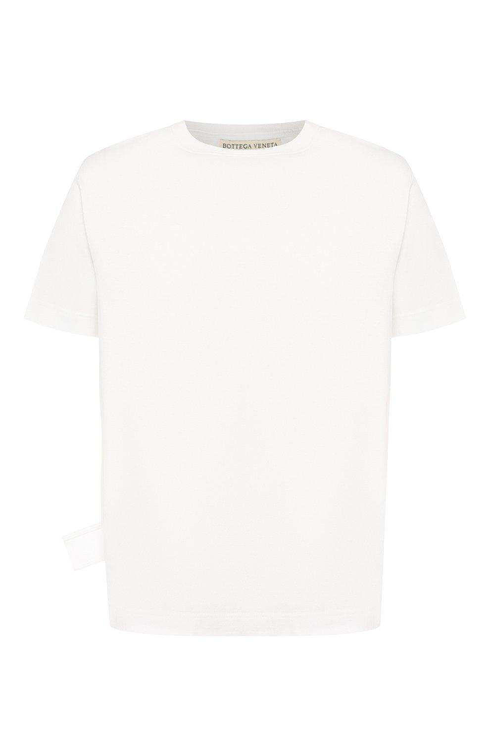 Мужская хлопковая футболка BOTTEGA VENETA белого цвета, арт. 575589/VKAB0 | Фото 1