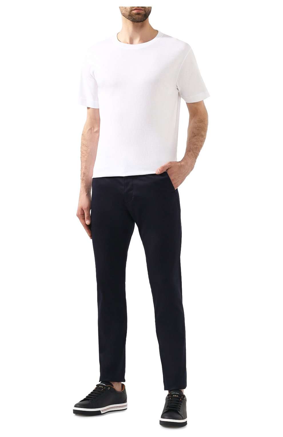 Мужская хлопковая футболка BOTTEGA VENETA белого цвета, арт. 575589/VKAB0 | Фото 2
