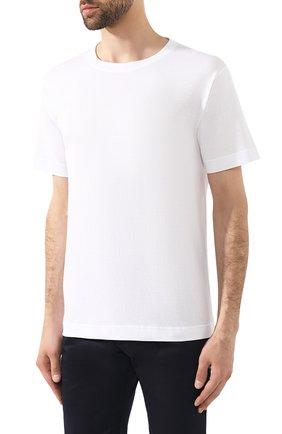 Мужская хлопковая футболка BOTTEGA VENETA белого цвета, арт. 575589/VKAB0 | Фото 3