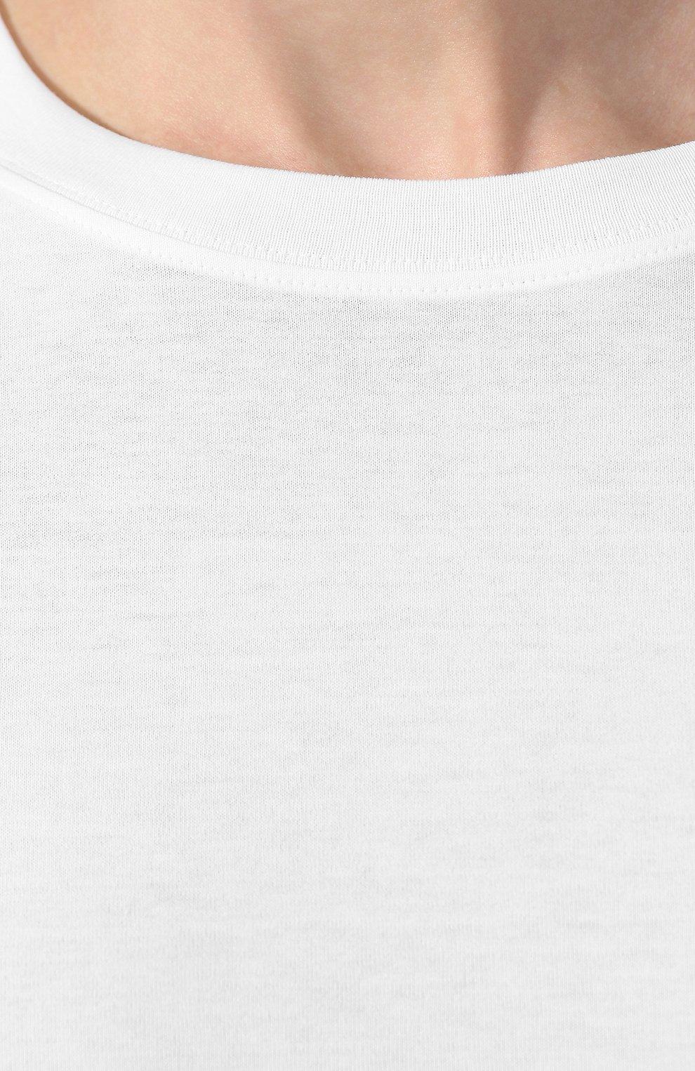 Мужская хлопковая футболка BOTTEGA VENETA белого цвета, арт. 575589/VKAB0 | Фото 5