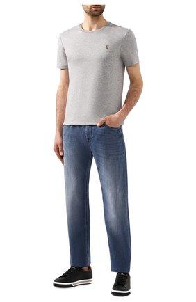 Мужская хлопковая футболка POLO RALPH LAUREN серого цвета, арт. 710740727 | Фото 2 (Длина (для топов): Стандартные; Материал внешний: Хлопок; Принт: Без принта; Рукава: Короткие; Стили: Кэжуэл; Статус проверки: Проверена категория)