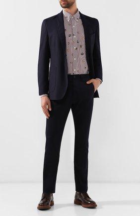 Мужская хлопковая рубашка POLO RALPH LAUREN бордового цвета, арт. 710758065/4065 | Фото 2