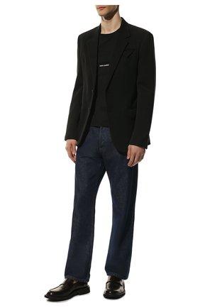 Мужская хлопковая футболка SAINT LAURENT черного цвета, арт. 464572/YB2DQ | Фото 2 (Материал внешний: Хлопок; Рукава: Короткие; Длина (для топов): Стандартные; Принт: Без принта, С принтом; Стили: Кэжуэл; Статус проверки: Проверена категория)