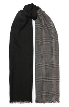 Мужской шарф из кашемира и шелка LORO PIANA темно-серого цвета, арт. FAI7518 | Фото 1