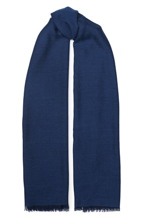 Мужской шарф из смеси кашемира и шелка LORO PIANA синего цвета, арт. FAI6863 | Фото 1