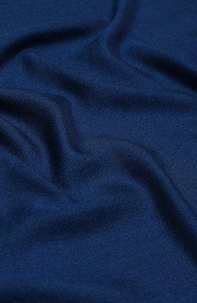 Мужской шарф из смеси кашемира и шелка LORO PIANA синего цвета, арт. FAI6863 | Фото 2