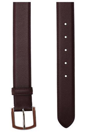 Мужской кожаный ремень LORO PIANA бордового цвета, арт. FAI2754 | Фото 2