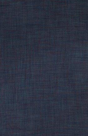 Мужской шарф brina из смеси кашемира и шелка с необработанным краем LORO PIANA синего цвета, арт. FAF8678 | Фото 2