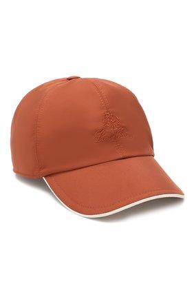 Мужской бейсболка LORO PIANA оранжевого цвета, арт. FAB1977 | Фото 1