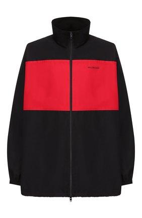 Мужская хлопковая куртка BALENCIAGA черного цвета, арт. 571434/TEM01 | Фото 1