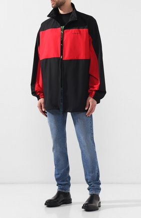 Мужская хлопковая куртка BALENCIAGA черного цвета, арт. 571434/TEM01 | Фото 2