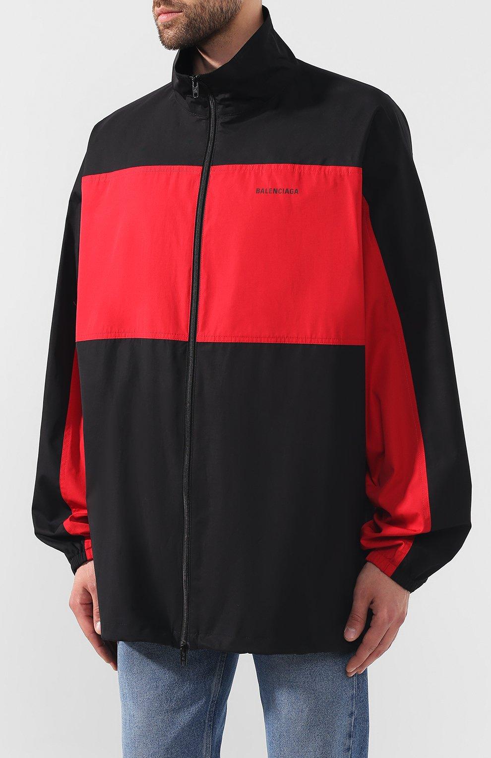 Мужская хлопковая куртка BALENCIAGA черного цвета, арт. 571434/TEM01 | Фото 3