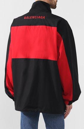 Мужская хлопковая куртка BALENCIAGA черного цвета, арт. 571434/TEM01 | Фото 4