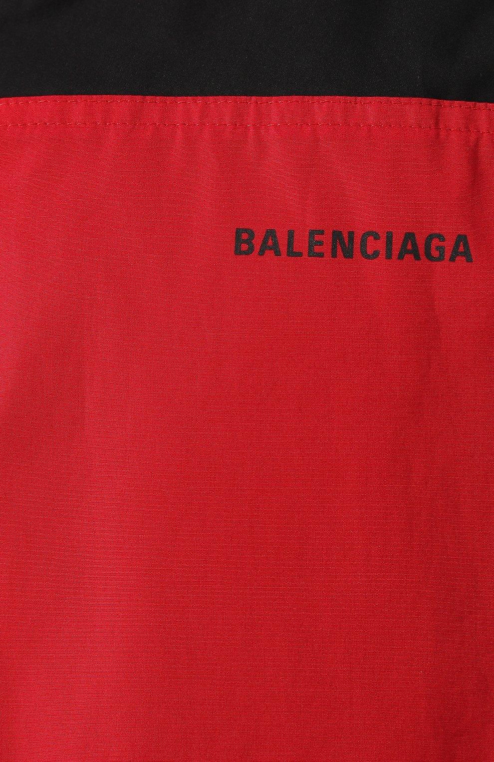 Мужская хлопковая куртка BALENCIAGA черного цвета, арт. 571434/TEM01 | Фото 5