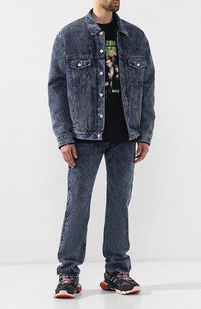 Мужские джинсы BALENCIAGA синего цвета, арт. 557078/TFW01 | Фото 2