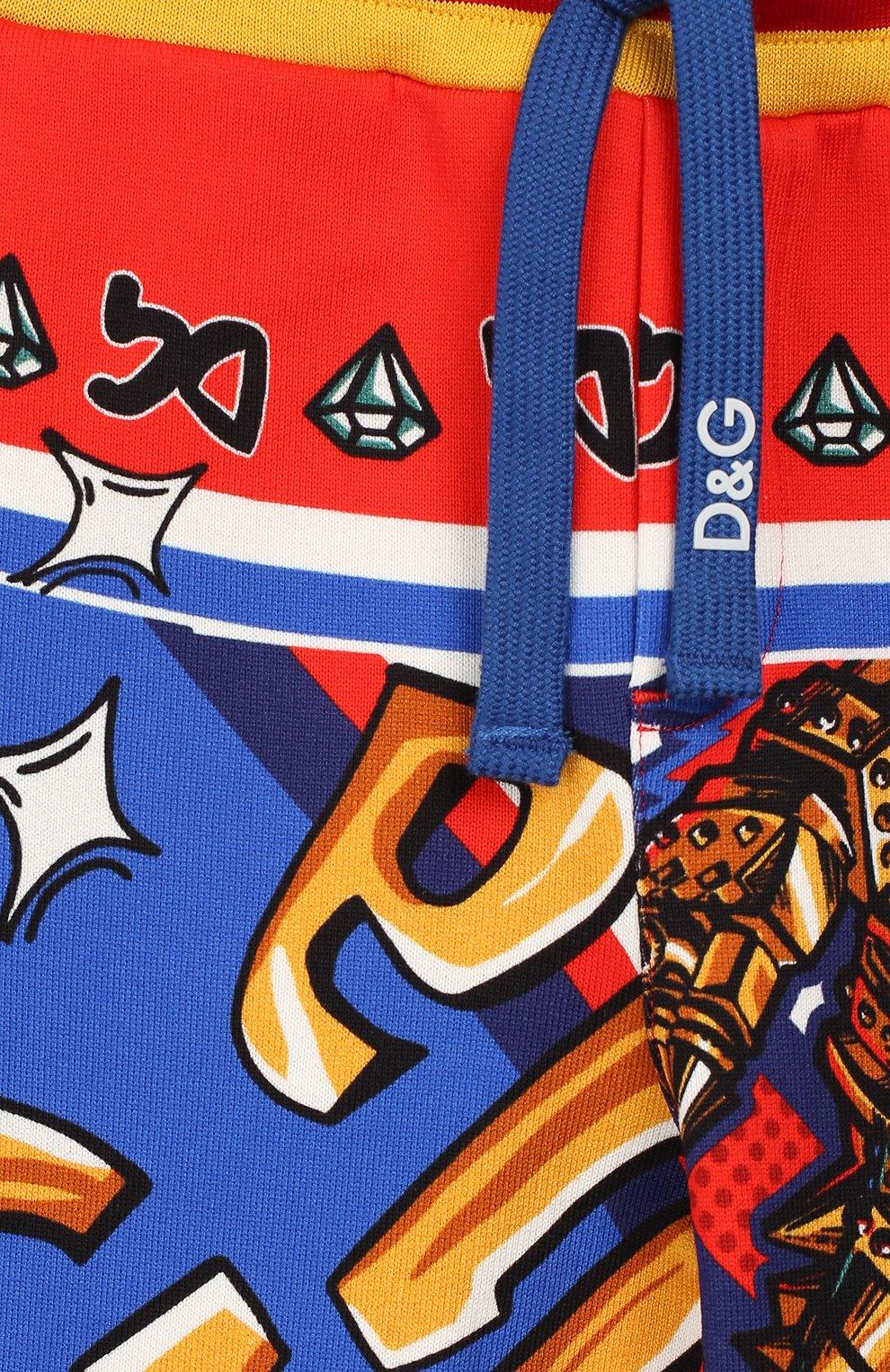 Хлопковые джоггеры Dolce & Gabbana разноцветного цвета | Фото №3